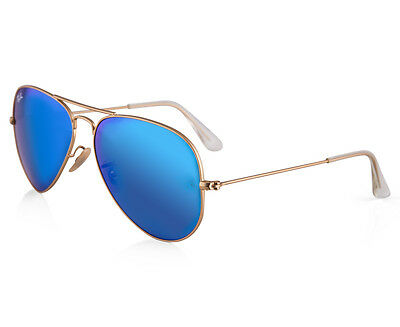 Ray-Ban Aviator RB3025-112/17 Sunglasses - Gold/Blue Mirror