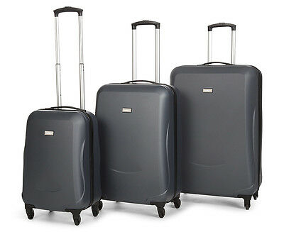 Antler Venice 4W Rollercase 3-Piece Hardcase Set - Charcoal