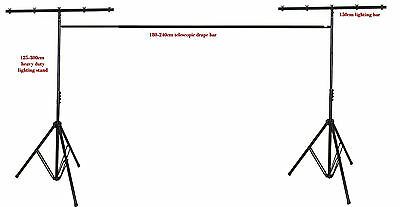 3x3m lighting tripod stand with telescopic backdrop drape support bar