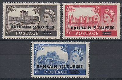 Bahrain 1955 ** Mi.96/98 SG 94/96 Type I Definitives Castles ovpt. on GB [b457]