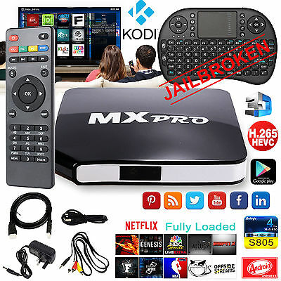 MX Pro Quad Core Android 4.4 TV Box Fully Loaded KODI (XBMC) Free Sports Movies