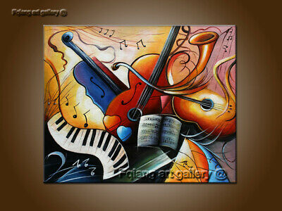 Modern Home Decor Music abstract oil painting wall art on Canvas Handmade H2182