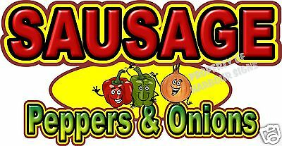 "Sausage Peppers & Onions 14"" Decal Concession Food Truck Restaurant Sticker"