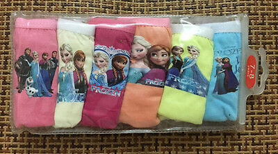 Free shipping 6pcs multicolor cartoon princess mixed Children girl underwear