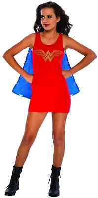 Wonder Woman Tank Dress Rhinestone Superhero Fancy Dress Halloween Teen Costume