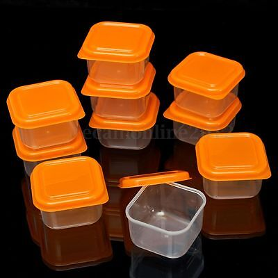 10X Plastic Food Freezer Small Storage Container Organizer Box With Lid Reusable
