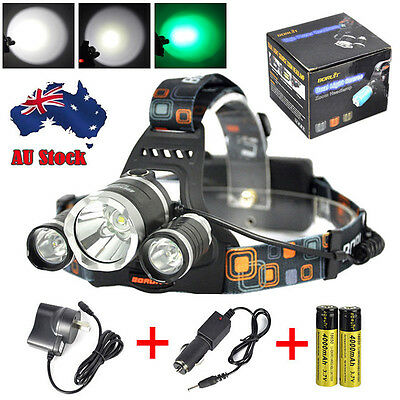 Rechargeable 13000 Lm LED Headlamp 3x XM-L T6 Headlight 2X18650 Head Torch Lamp