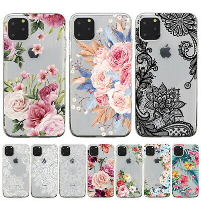 Ultra Thin Floral Printed TPU Swallow Clear Case Cover For iPhone 6s 7 8 Plus X