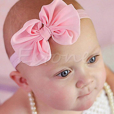 10Pcs Baby Chiffon Toddler Cute Flower Bow Headband Hair Band Kids Girl Headwear