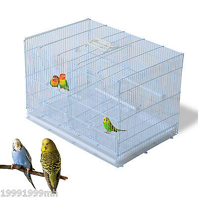 """PawHut 23"""" Metal Crate Bird Cage Cockatiel Conure Macaw Cackatoo House Perch"""