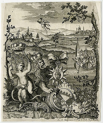Antique Print-ALLEGORY-MARY-SOSSAU-STRAUBING-BAVARIA-Zimmermann-ca. 1770