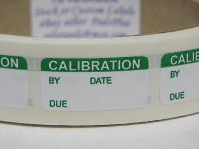 CALIBRATION tiny 1/2x1 Sticker Label Lift Off Removable Adhesive 250/rl