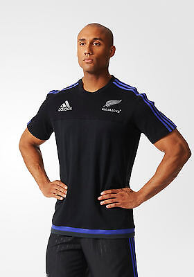 Cotton Tee All Blacks New Zealand Adidas Leisure T-shirt Black 2015 16 Men