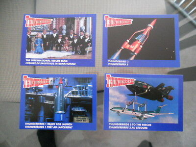 Thunderbirds TV show Pizza hut limited issue cards set 1990s