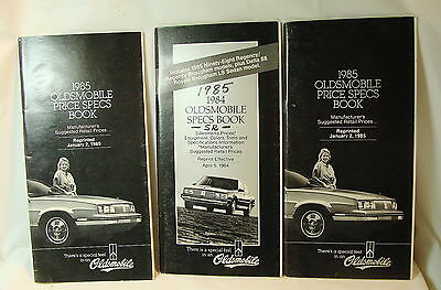 3 - 1985 Oldsmobile Salesme's Specifications Books