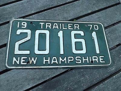 1 Expired 1970 New Hampshire License Plate Trailer 20161 Free Shipping