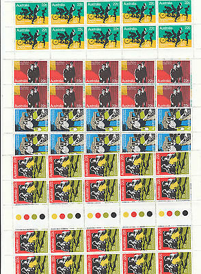Stamps Australia 1982 Welfare set of 4 in traffic lights gutter strips of 20 MUH