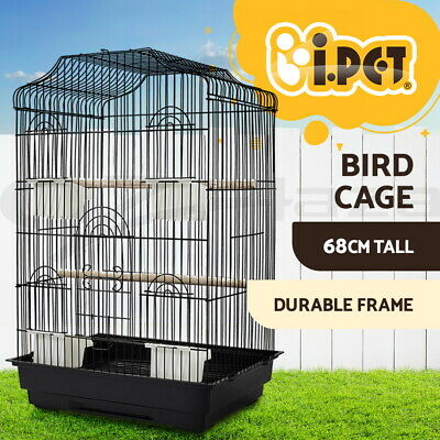 68cm Bird Cage Parrot Pet Carrier Portable Canary Budgie Finch Perch Medium BK