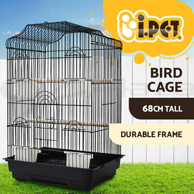 68cm Bird Cage Pet Parrot Pet Carrier Portable Canary Budgie Finch Perch Medium