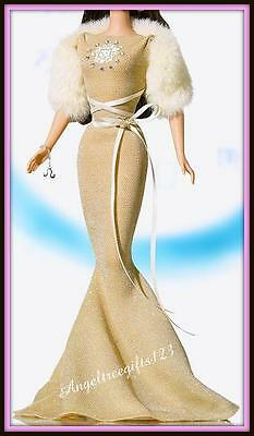 Leo gold evening gown fits silkstone royalty model muse Barbie