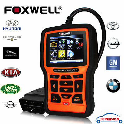 Foxwell NT510 Full System Engine ABS SRS EPB Oil Service OBD2 Diagnostic Scanner