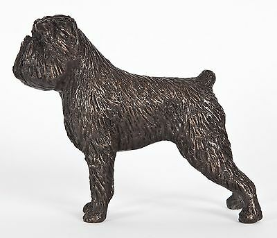 "Affenpinscher: Cold-Cast Bronze Figurine  4.3"" Long #63-001"