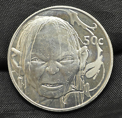 2003 New Zealand 50 cents Lord of the Rings: Gollum