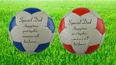 Memorial Plaque Grave Stone Ornament Football Father Dad Special
