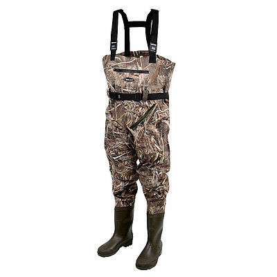 Prologic NEW Carp Fishing Max5 Nylo-Stretch Chest Waders With Cleated Soles
