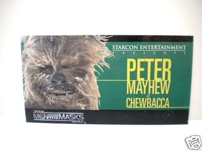 Star Wars Starcon limited issued Chewbacca card 1997
