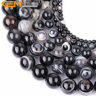 Natural Gemstone Dzi Antiqued Agate Tibet Onyx Mala Beads For Jewelry Making 15""