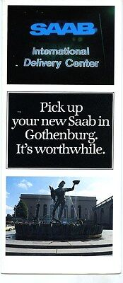 1986 Saab International Delivery Center Brochure my6325