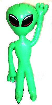 "Jumbo 36"" Inflatable Alien Party Decoration #13708065"