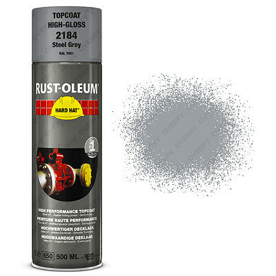 x1 Ultra-High Coverage Rust-Oleum Steel Grey Spray Paint Hard Hat RAL 7001