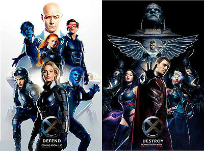 X-Men Apocalypse - original DS movie poster - 27x40 D/S - Advance Set INTL x2