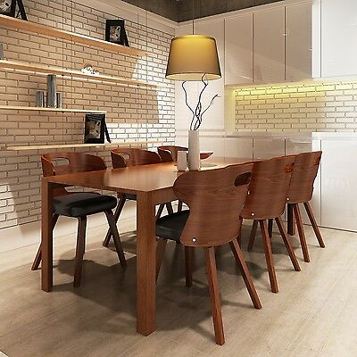 New Set of 2/4/6 Dining Chairs with Cut-out Bentwood Backrest Home Living Room