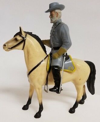 1960's Hartland Csa General Lee & Traveller Figure W/hat Sword Saddle