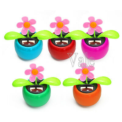 5/2/1x Solar Power Flip Flap Dancing Flower For Auto Car Home Ornament Toy Gift