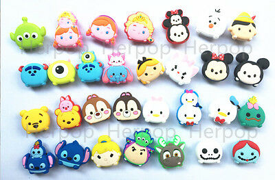 Lot 100pcs 30 designs tsum mickey minnie cartoon mixed Shoe Charms Fit Jibbitz