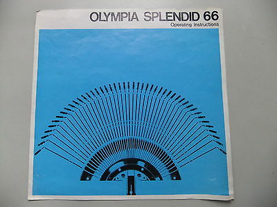 Instructions typewriter OLYMPIA Splendid 66 - CD / Email