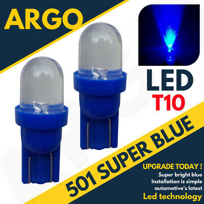 FORD 2x 501 T10 W5W 12V LED XENON PARKING SIDELIGHT BULBS ICE BLUE SIDE LIGHT