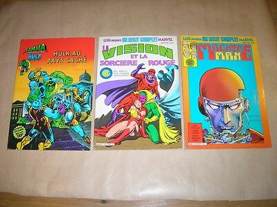Lot 3 Comics / Hulk + Machine Man + La Sorciere Rouge / Marvel Lug Annees 80