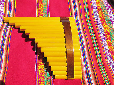 Awesome Professional  Panflute 15 Pipes From Peru Case Included