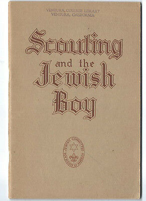 1949 Scouting And The Jewish Boy Booklet
