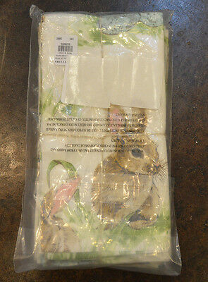 NWT Set of 4 Pottery Barn Pasture BUNNY Easter Dinner Napkins