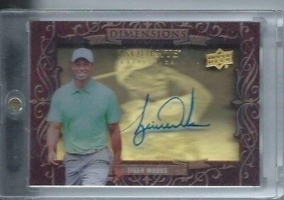 2013 Upper Deck Exquisite Golf Dimensions Shadow Box On Card Auto Tiger Woods