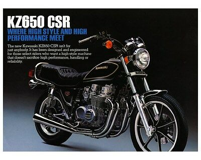 1982 1983 KAWASAKI KZ650 CSR 650 KZ650H Motorcycle Factory Photo ca5360