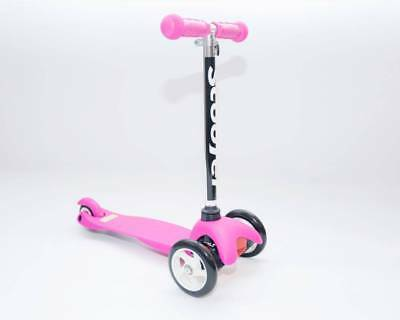 Pink Scooter 3 wheels Kick Scooter Mini Wheel with flashing wheels Xmas