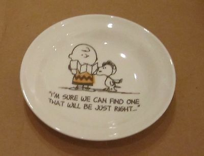 """Snoopy & Charlie Brown Ceramic Plate 'flying Ace"""""""