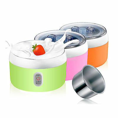 1.2L Stainless Steel Automatic Yogurt Maker DIY Delicious Yoghurt & Container LF